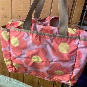 Lesportsac Le sport sac diaper bag floral pink